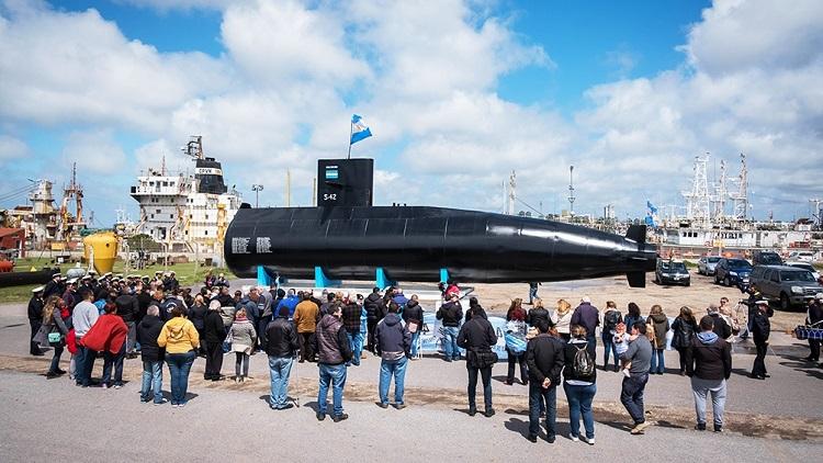 Mar del Plata: Presentaron una réplica del submarino ARA San Juan